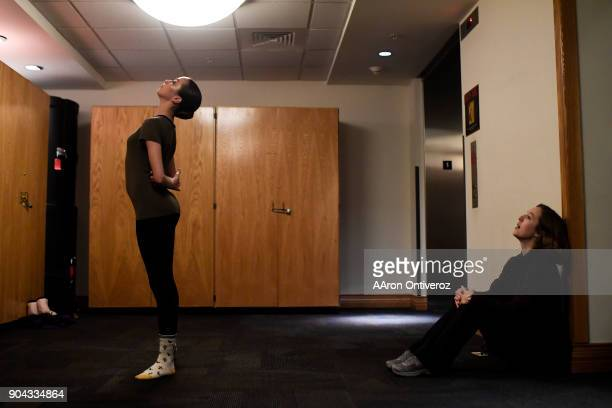 Leah Seabolt performs her dance under the guidance of teacher Anna Bridge during the 2018 Youth America Grand Prix semifinals at the University of...