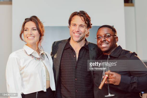 Leah Silberman, Jonathan Baker and Enoch attend The One And Only, Dick Gregory, Album Release Event on September 16, 2021 in Burbank, California.
