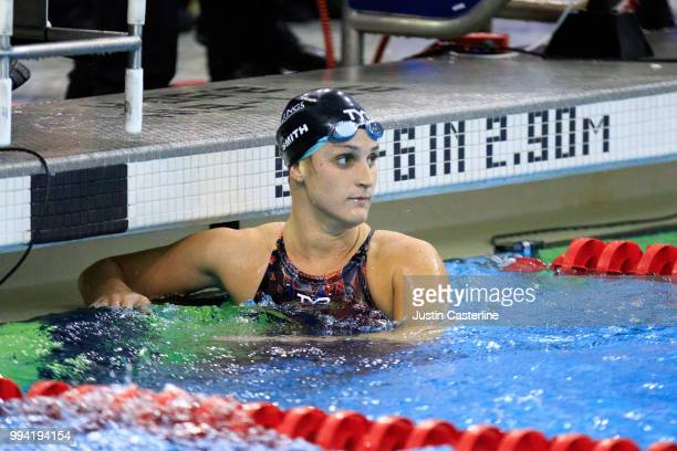 Leah Smith wins the women's 800m freestyle final at the 2018 TYR Pro Series on July 8 2018 in Columbus Ohio