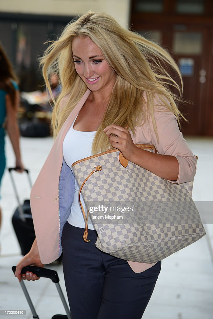 Leah Totton a contestant and finalist of the apprentice sighted at BBC Radio on July 12, 2013 in London, England.