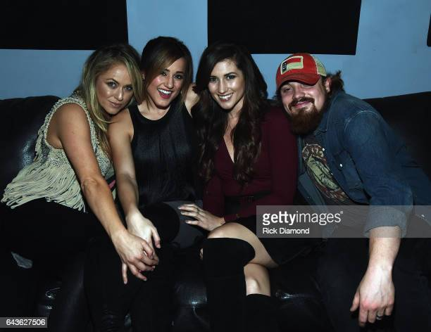 Leah Turner Mary Sarah Colby Dee and Andy Buckner backstage during ForgetMeNot A Night Of Music For Alzheimer's Awareness at 3rd Lindsley on February...