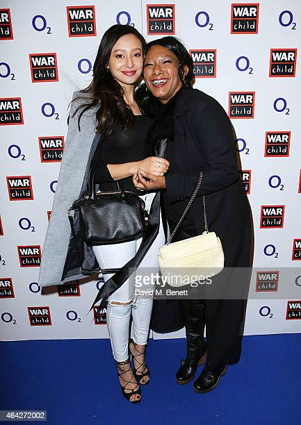 Leah Weller and Dee C Lee attend War Child O2 BRIT Awards Show at O2 Shepherd's Bush Empire on February 23 2015 in London England