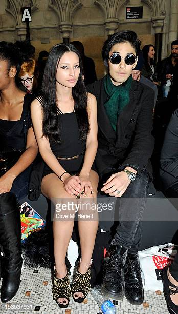 Leah Weller and Tomo Kurata arrives at The LOOK Show in association with Smashbox Cosmetics at the Royal Courts of Justice Strand on October 6 2012...