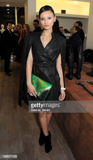 Leah Weller attends a drinks reception hosted by Leon Max to celebrate the launch of his first London store in Westbourne Grove on November 16 2012...