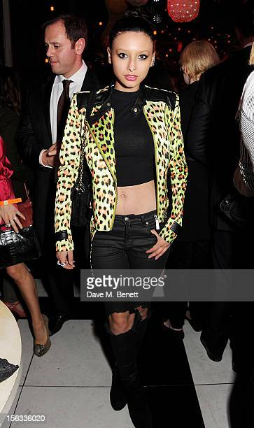 Leah Weller attends the opening of new restaurant SushiSamba London in Heron Tower on November 13 2012 in London England