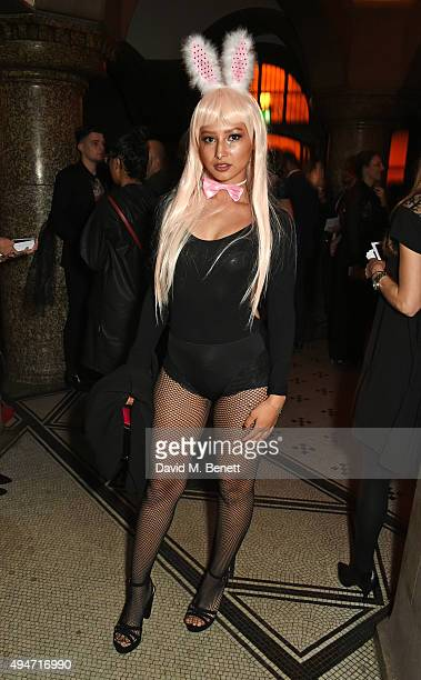 Leah Weller attends the Veuve Clicquot Widow Series 'A Beautiful Darkness' curated by Nick Knight and SHOWstudio on October 28 2015 in London England