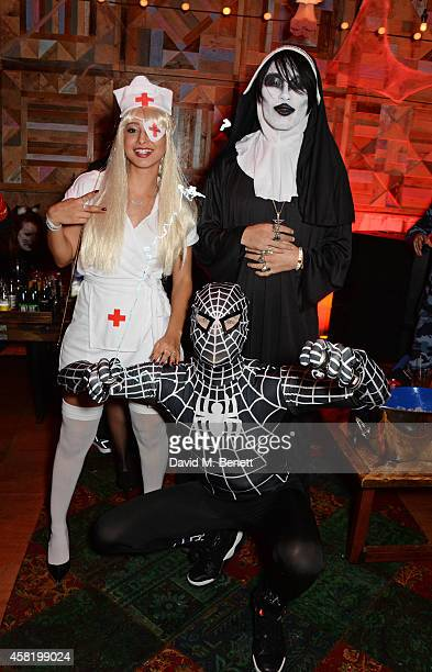 Leah Weller Natt Weller and Tomo Kurata attend 'Death Of A Geisha' hosted by Fran Cutler and Cafe KaiZen with Grey Goose on October 31 2014 in London...