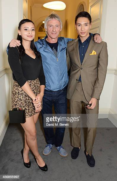 Leah Weller Paul Weller and Natt Weller attend the launch of Real Stars Are Rare the new menswear line from Paul Weller at Somerset House on October...