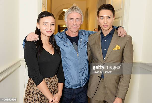 Leah Weller Paul Weller and Natt Weller attend the launch of 'Real Stars Are Rare' the new menswear line from Paul Weller at Somerset House on...
