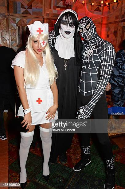 Leah Weller Tomo Kurata and Natt Weller attend 'Death Of A Geisha' hosted by Fran Cutler and Cafe KaiZen with Grey Goose on October 31 2014 in London...