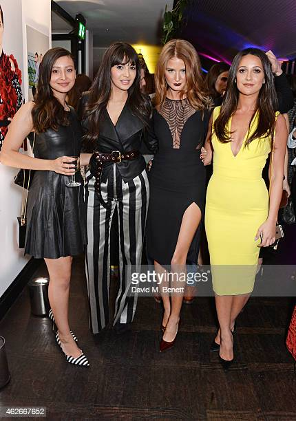 Leah Weller Zara Martin Millie Mackintosh and Roxie Nafousi attend the InStyle and EE Rising Star Party in association with Lancome Karen Millen and...