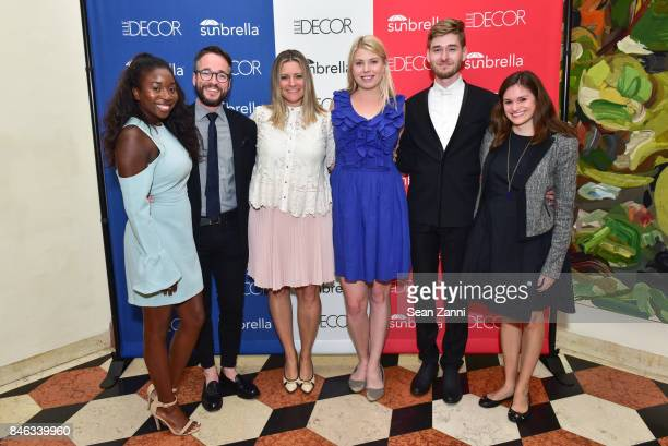 Leah Williams Donald Sanders Stephanie Cizinsky Leah Shearer Butler Robertson and Mollie Lambert attend ELLE DECOR Celebration of Iconic French Style...