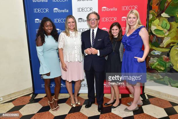Leah Williams Stephanie Cizinsky William Ivey Long Mollie Lambert and Leah Shearer attend ELLE DECOR Celebration of Iconic French Style at the French...