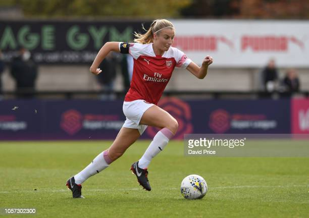 Leah Williamson of Arsenal during the match between Arsenal Women and Birmingham Ladies at Meadow Park on November 4 2018 in Borehamwood England