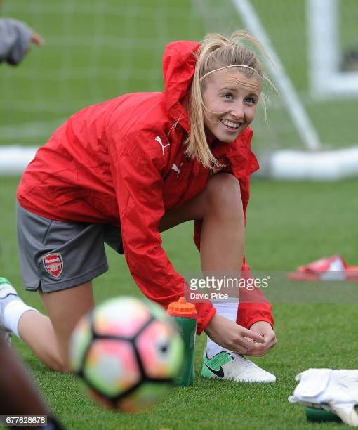Leah Williamson of Arsenal Ladies during an Arsenal Ladies Training Session at London Colney on May 3 2017 in St Albans England