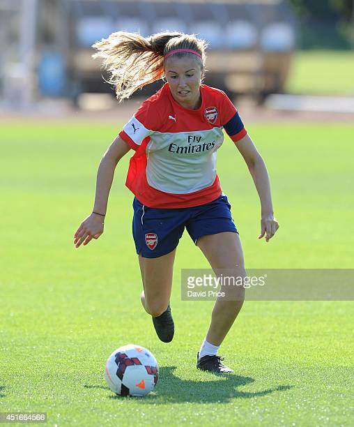 Leah Williamson of Arsenal Ladies during their training session at London Colney on July 3 2014 in St Albans England