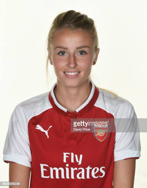 Leah Williamson of Arsenal Women during the Arsenal Women 1st Team Photocall at London Colney on September 6 2017 in St Albans England