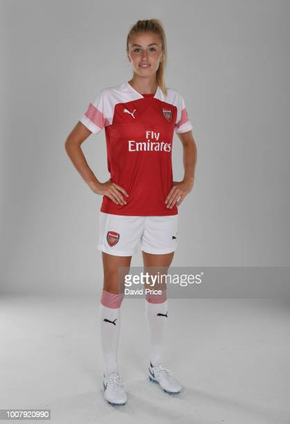 Leah Williamson of Arsenal Women during the Arsenal Womens Photocall at London Colney on July 30 2018 in St Albans England