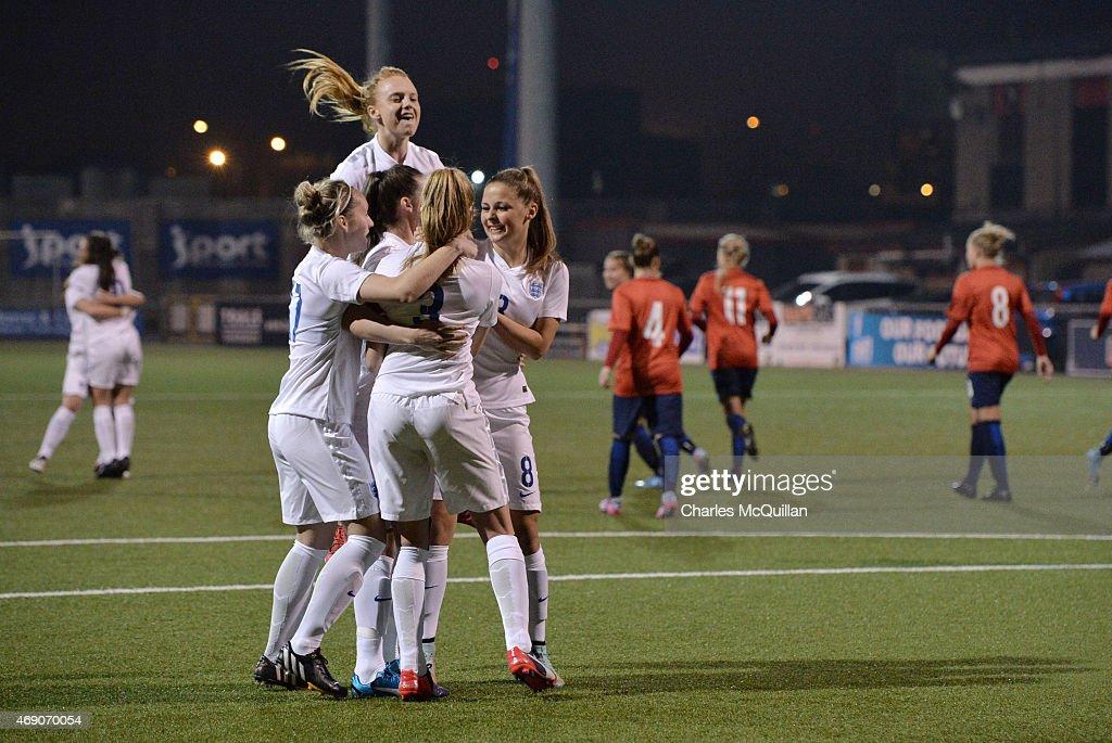 England U19 Retake Last Minute Penalty Against Norway : News Photo
