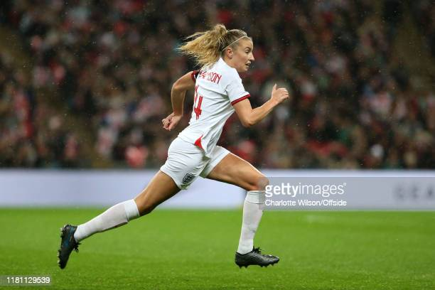 Leah Williamson of England during the International Friendly between England Women and Germany Women at Wembley Stadium on November 9 2019 in London...
