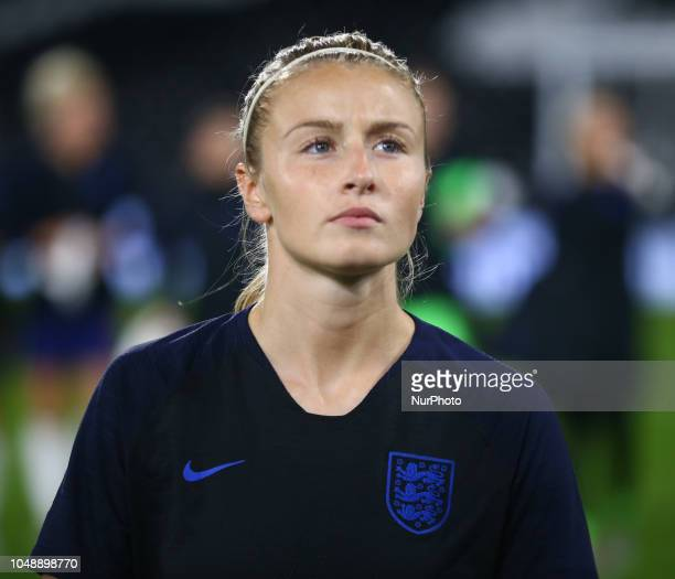Leah Williamson of England Women during International Women friendly between England Women and Australia Women at Craven Cottage Stadium London...