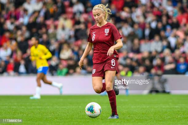 Leah Williamson of England Women during the International Friendly match between England Women and Brazil Women at the Riverside Stadium...
