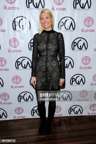 Leah Winkler attends The Players Hosts East Coast Celebration of the 2018 Producers Guild Nominees at The Players on January 16 2018 in New York City