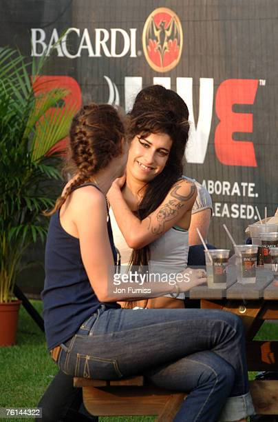 Leah Wood and Amy Winehouse