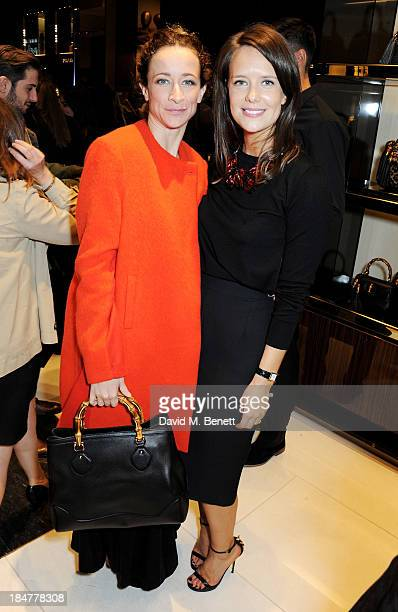 Leah Wood and Arabella Musgrave attend a private cocktail hosted by Gucci and Clara Paget to celebrate 'I Bamboo You' at Gucci's Old Bond Street...