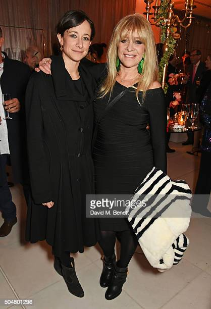 Leah Wood and Jo Wood attend the opening night reception of the English National Ballet's Le Corsaire hosted by St Martins Lane on January 13 2016 in...