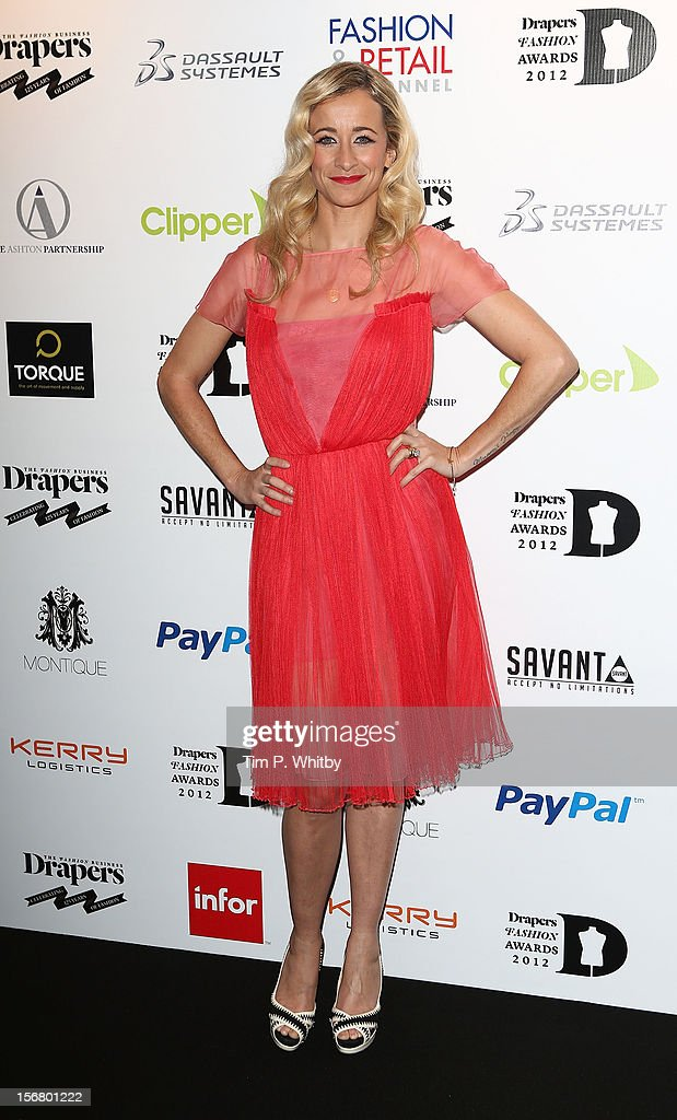 Leah Wood attends the Drapers Fashion Awards at Grosvenor House, on November 21, 2012 in London, England.