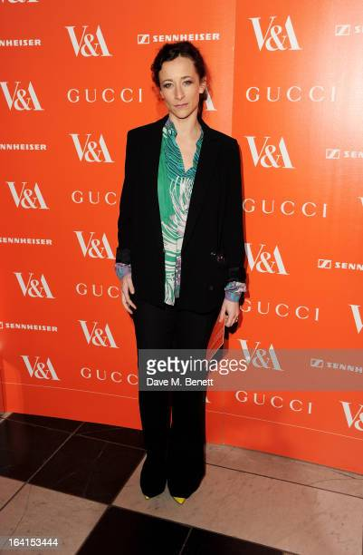 Leah Wood attends the private view for the 'David Bowie Is' exhibition in partnership with Gucci and Sennheiser at the Victoria and Albert Museum on...