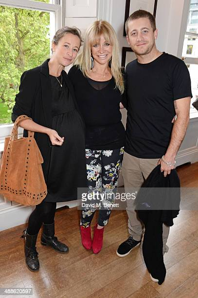 Leah Wood Jo Wood and Tyrone Wood attend the launch of 'The PopUp Gym' written by Jon Denoris at Mortons on May 7 2014 in London England