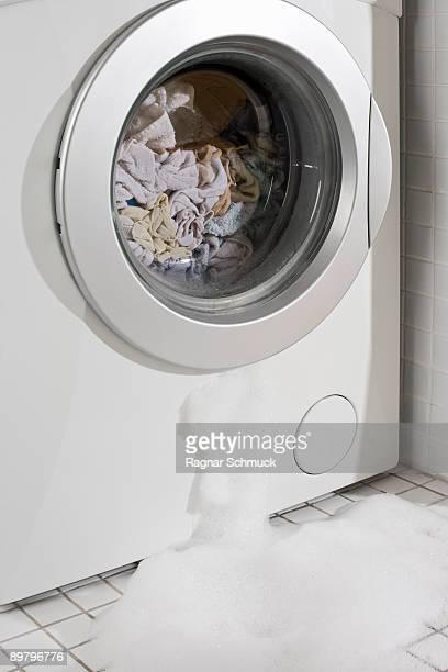 A leaking washing machine