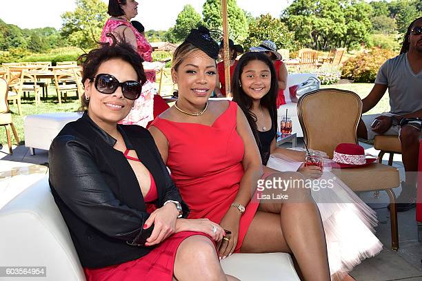 Lealani Shaw Ruth Garcia and Julieta Erving attend the Dorys Erving Wine Chocolate Cheese Pairings during the Julius Erving Golf Classic Event at the...