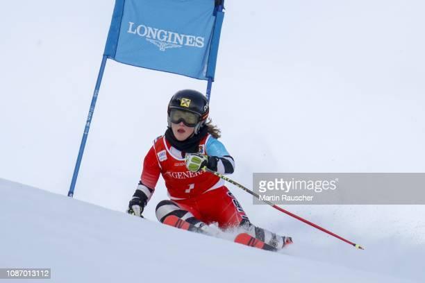 Leana Dobler of Austria during the first run of FIS Ski World Cup 79 Hahnenkamm Race Kitzbuehel Juniors Race on January 23 2019 in Kitzbuehel Austria