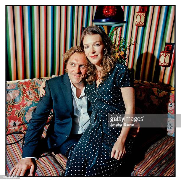 Leander and Laura Ward are photographed at 5 Hertford Street, which is home to the nightclub Loulou's for Vanity Fair Magazine on June 11, 2012 in...