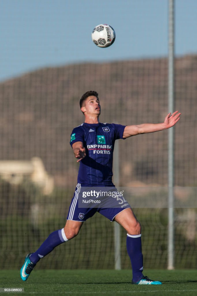 Leander Dendoncker during the friendly match between FC Utrecht vs. RSC Anderlecht at La Manga Club, Murcia, SPAIN. 10th January of 2018.