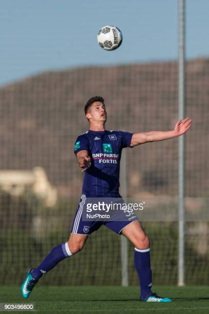 Leander Dendoncker during the friendly match between FC Utrecht vs RSC Anderlecht at La Manga Club Murcia SPAIN 10th January of 2018