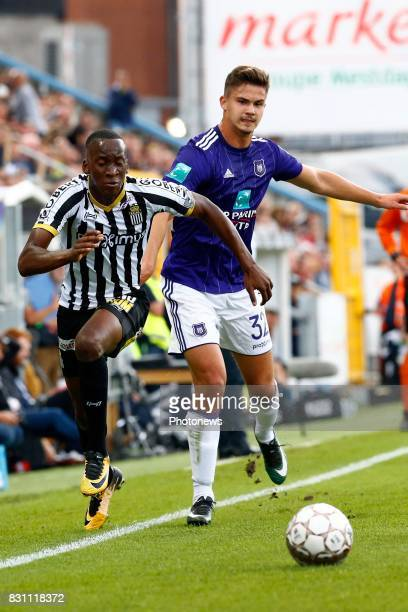 Leander Dendoncker midfielder of RSC Anderlecht and Dodi Lukebakio midfielder of Sporting Charleroi pictured during the Jupiler Pro League match...