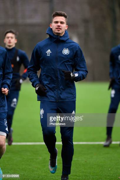 Leander Dendoncker midfielder of RSC Anderlecht during a RSC Anderlecht training session in the RSCA training center on February 02 2018 in Neerpede...