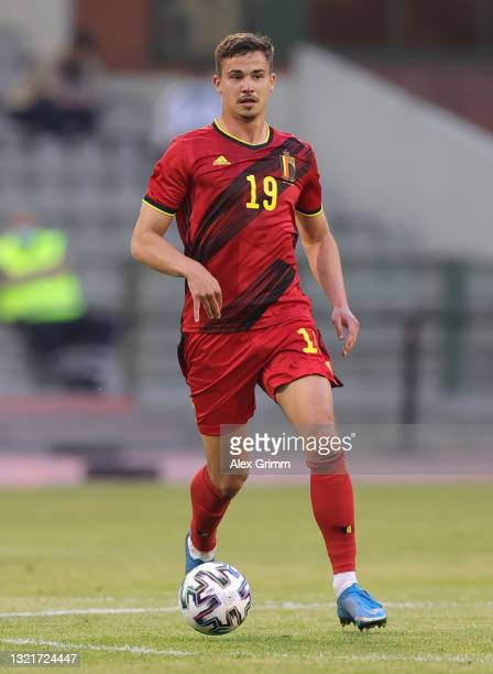 Leander Dendoncker of Belgium controls the ball during the international friendly match between Belgium and Greece at King Baudouin Stadium on June...