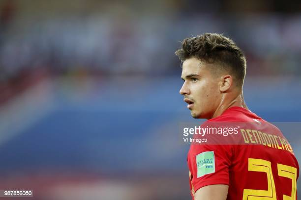 Leander Dendoncker of Belgium during the 2018 FIFA World Cup Russia group G match between England and Belgium at the Kalingrad stadium on June 28...
