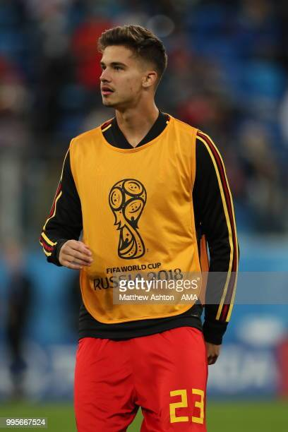 Leander Dendoncker of Belgium during the 2018 FIFA World Cup Russia Semi Final match between Belgium and France at Saint Petersburg Stadium on July...