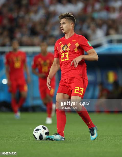 Leander Dendoncker of Belgium is seen during the 2018 FIFA World Cup Russia group G match between England and Belgium at Kaliningrad Stadium on June...