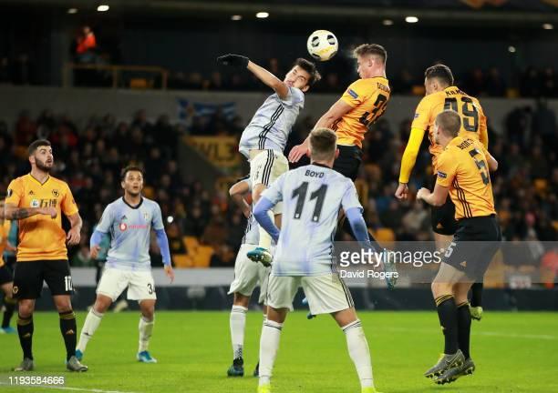 Leander Dendoncker of Wolverhampton Wanderers scores his team's third goal during the UEFA Europa League group K match between Wolverhampton...