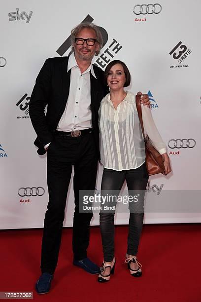 Leander Haußmann and Anna Thalbach attend the Shocking Shorts Award at Galerie der Kuenstler on July 2, 2013 in Munich, Germany.