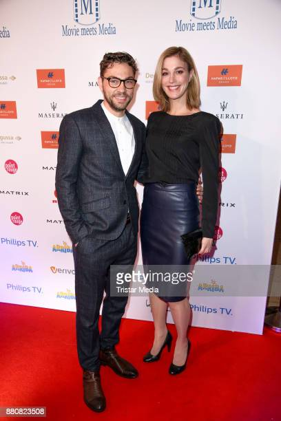 Leander Lichti and Julia Stinshoff attend the Movie Meets Media event 2017 at Hotel Atlantic Kempinski on November 27 2017 in Hamburg Germany