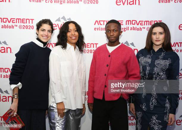 Leandra Cohen Marjon Carlos Tawanda Chiweshe and Lauren Singer attend the Evian Virgil Abloh Collaboration party at Milk Studios on February 10 2020...