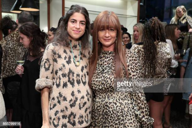 Leandra Medine and Deborah Lloyd attend the Leopard Leopard Leopard PopUp Shop hosted by Kate Spade New York Man Repeller on September 28 2017 in New...